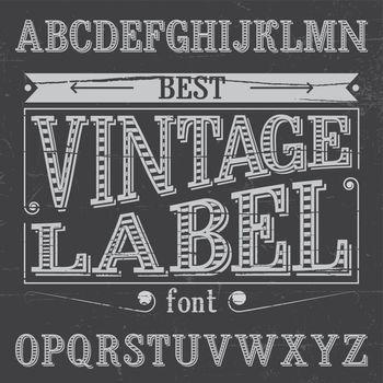 Finest Vintage Label Font Poster