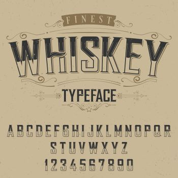 Finest Whiskey Typeface Poster