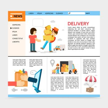Flat Delivery Service Website Template