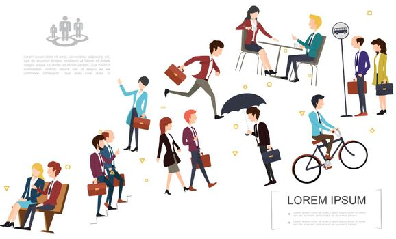 Flat Business People Template