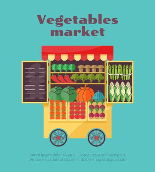 Farm vegetables market street vending