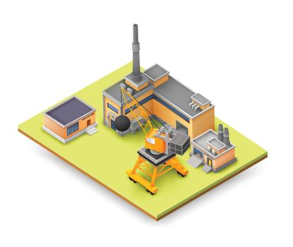 Factory Objects Design Background Concept