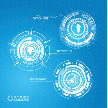 Futuristic Abstract Infographic Concept