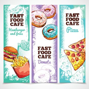 Fast Food Banners Vertical