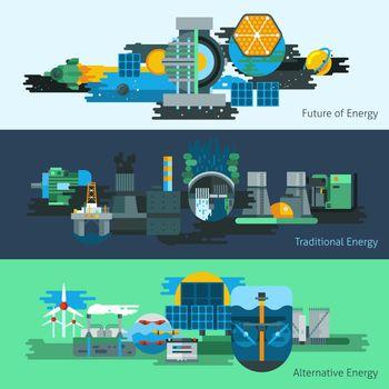 Energy production banner set
