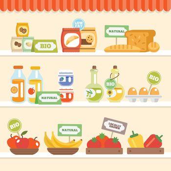 Food Collection On Shelf