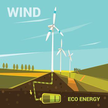 Ecological energy cartoon