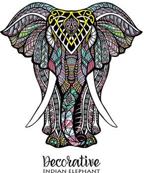 Elephant Colored Illustration