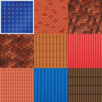 House Roof Tile Set
