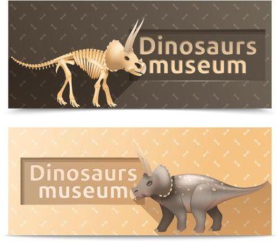 Horizontal dinosaurs museum banners