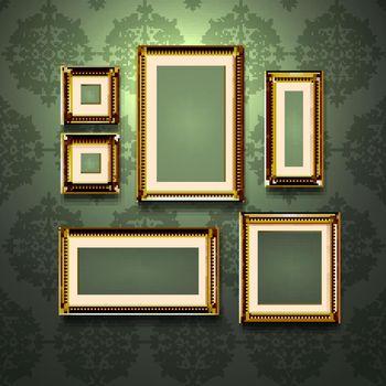 Golden Frames On Wall