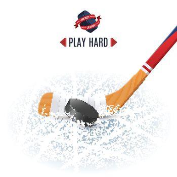 Hockey Stick And Puck