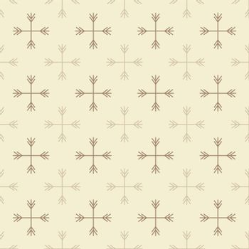 Seamless outline snow pattern