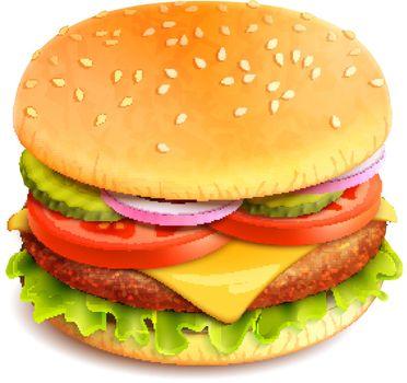 Hamburger Realistic Isolated