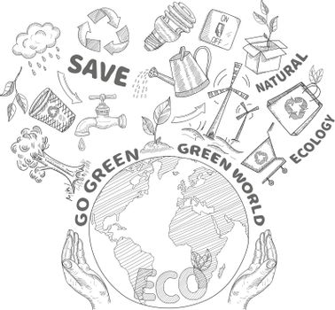 Doodles Ecology Concept