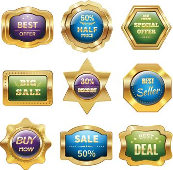 Golden Sale Badges