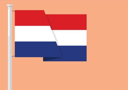 Netherlands flag with copyspace