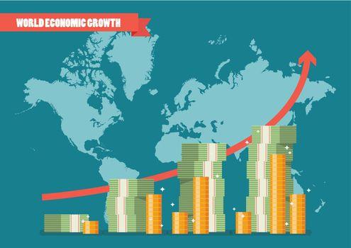World economic growth infographic