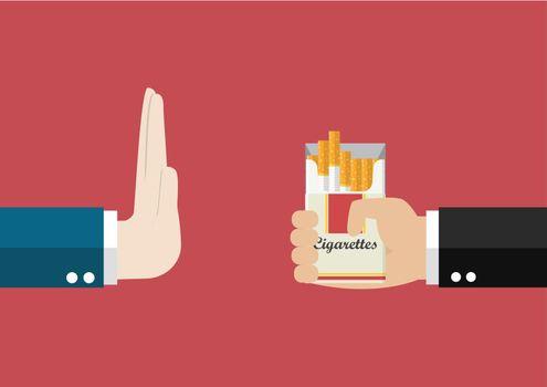 Reject cigarette offer