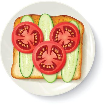 Healthy Breakfast Appetizing Top View Image