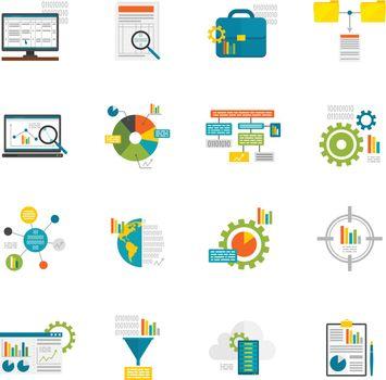 Data Analytics Flat Icons