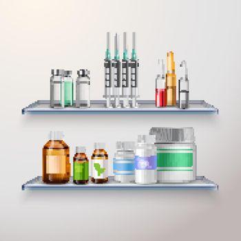 Healthcare Product Shelves Composition