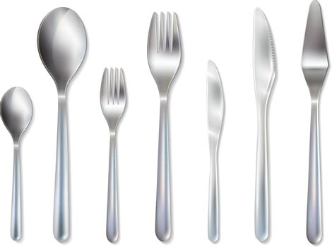 Cutlery Reception Dinner Set Realistic Image