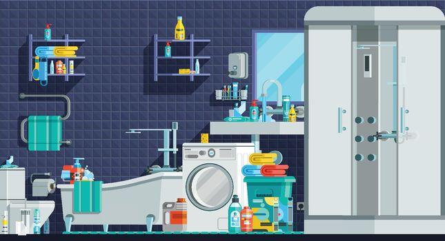 Hygiene Icons Orthogonal Flat Composition