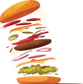 Hamburger Ingredients Design