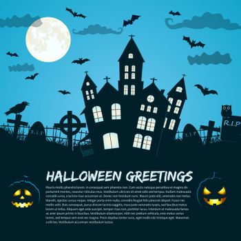 Halloween Greetings Holiday Poster