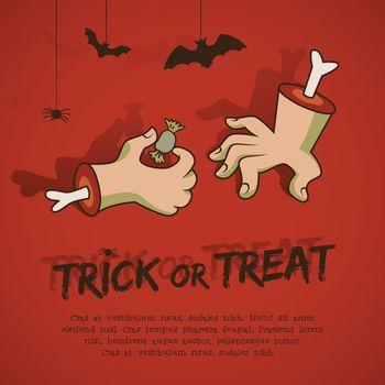 Trick Or Treat Cartoon Style Illustration