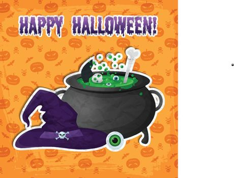Greeting Halloween Party Template