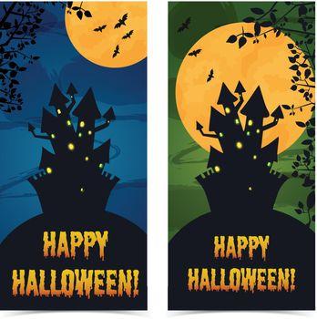 Greeting Halloween Vertical Banners