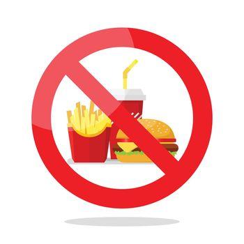 No food symbol