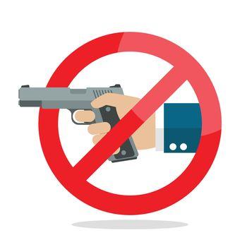 No gun weapon sign