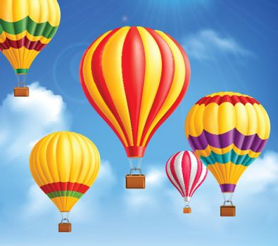 Hot Air Balloons Background