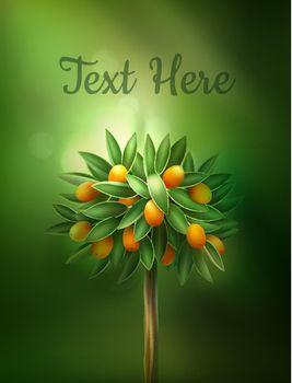 Vector citrus tree