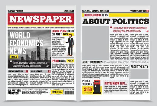 News Journal Spread Template