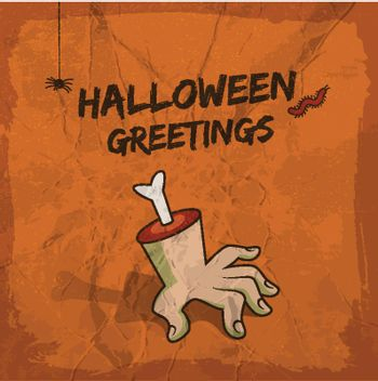 Halloween Greetings Illustration
