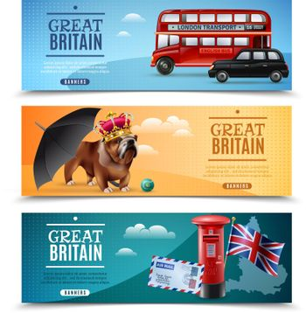 Great Britain Travel Horizontal Banners