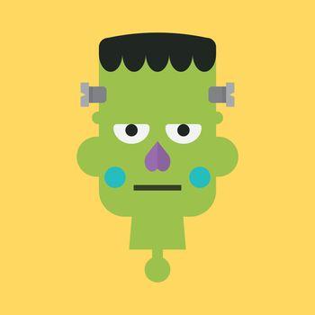 Head of green zombie