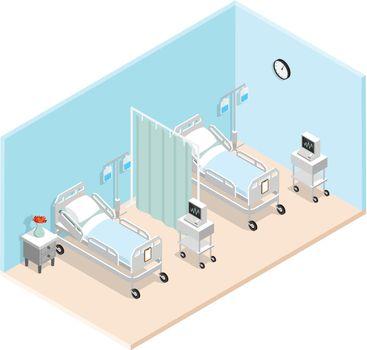 Hospital Ward Isometric Interior