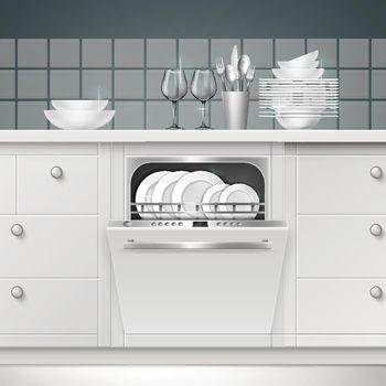 Vector build-in dishwasher