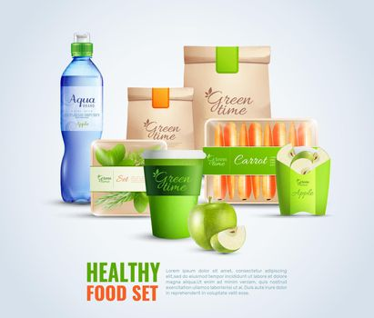 Healthy Food Packaging Template Illustration