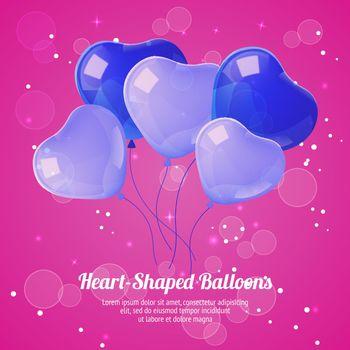 Heart Shaped Ballons Poster
