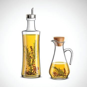 Glass Bottles Set