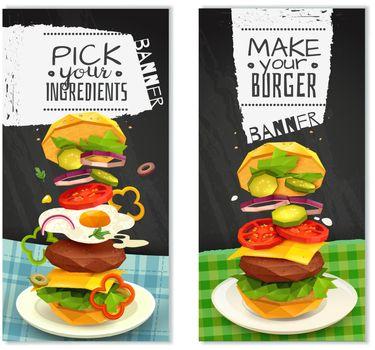 Hamburger Vertical Banners
