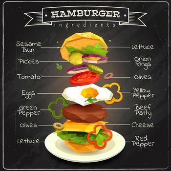 Hamburger Ingredients Infographics