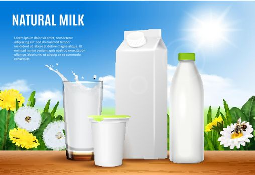 Dairy Packaging Realistic Composition