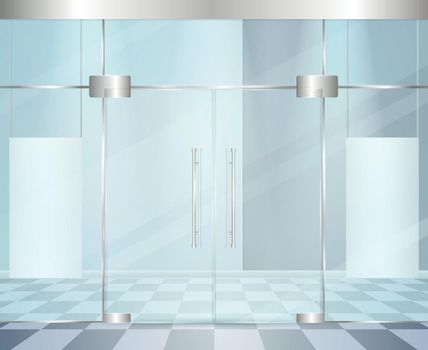 Glossy Modern Doors Composition